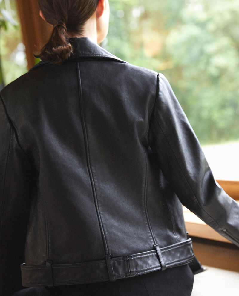 Timeless leather jacket  Noir Galaxie
