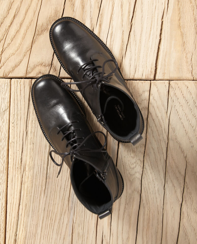 Smooth leather boots Noir Goots