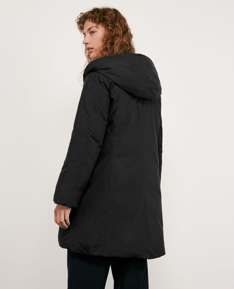 Hooded down coat Noir Domette