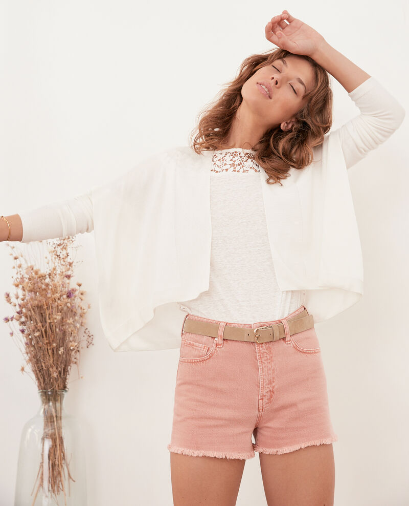 Short cardigan OFF WHITE
