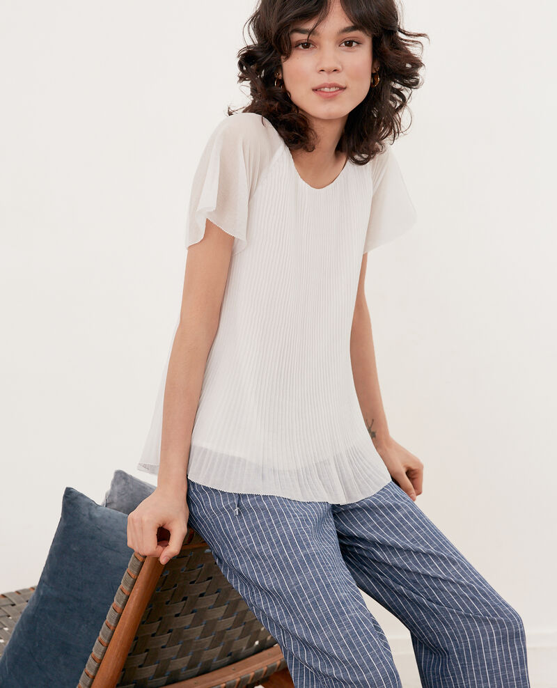 Pleated blouse BLANC