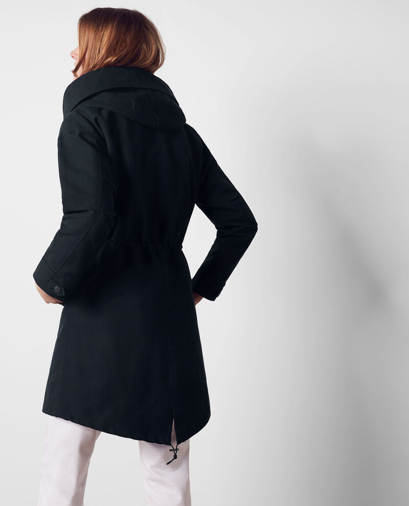 Parka with removable hood Dark navy Casquette