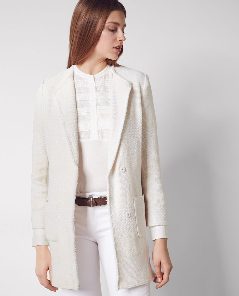 Half-length tweed coat Off white Cabine