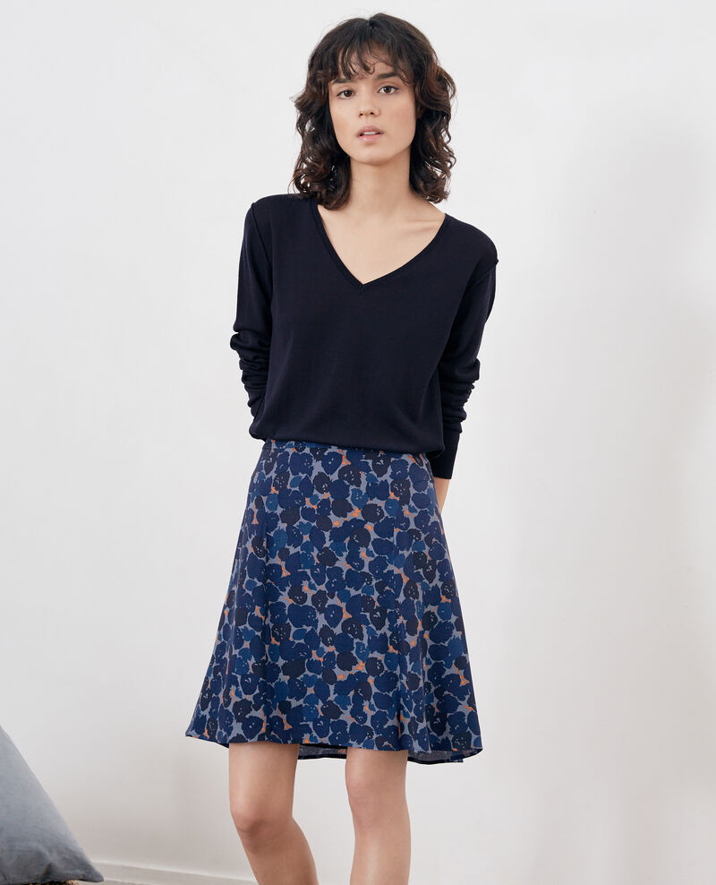 Printed skirt BLOSSOM SHADOW INDIGO