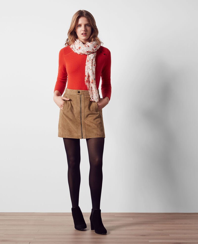 Suede trapeze skirt Dune Chatelet