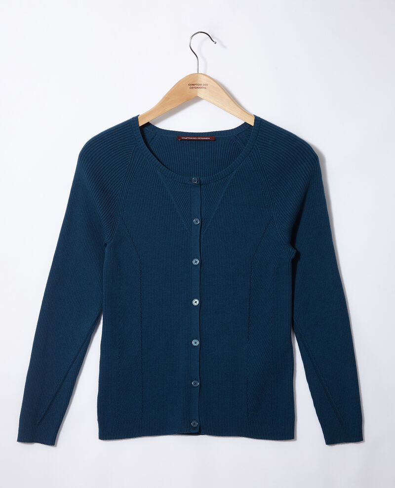Cotton cardigan Majolica blue Genie