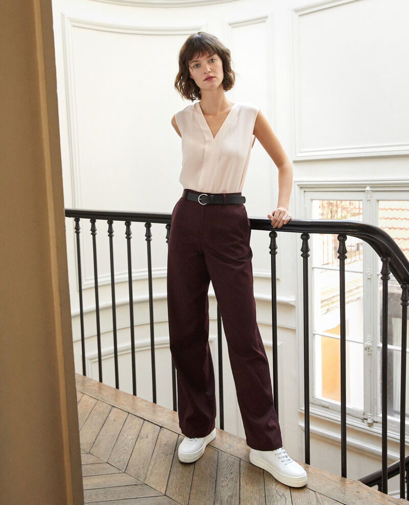 Loose fit trousers DECADENTE CHOCOLATE