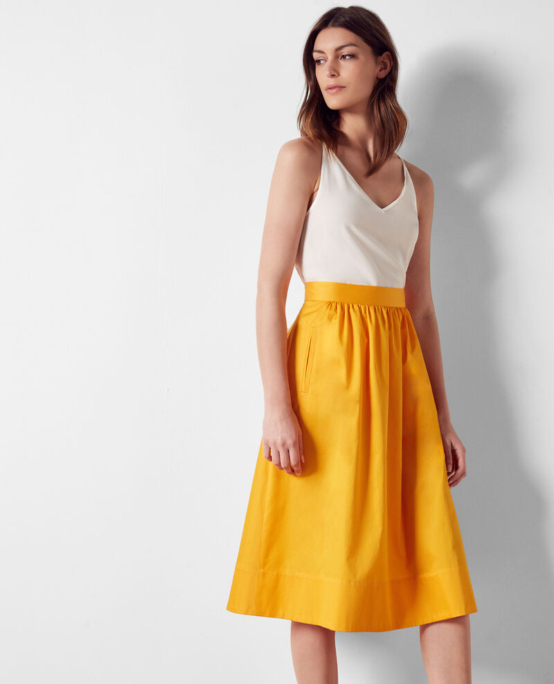 Cotton satin skirt Crayola Corgeat