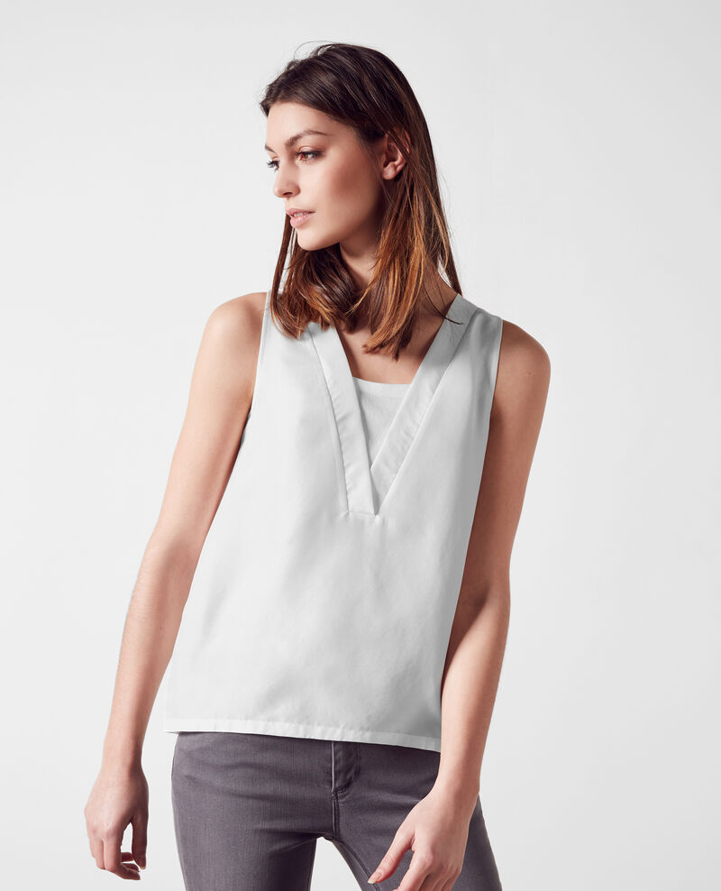 Dual-fabric top Blanc 9bilibob