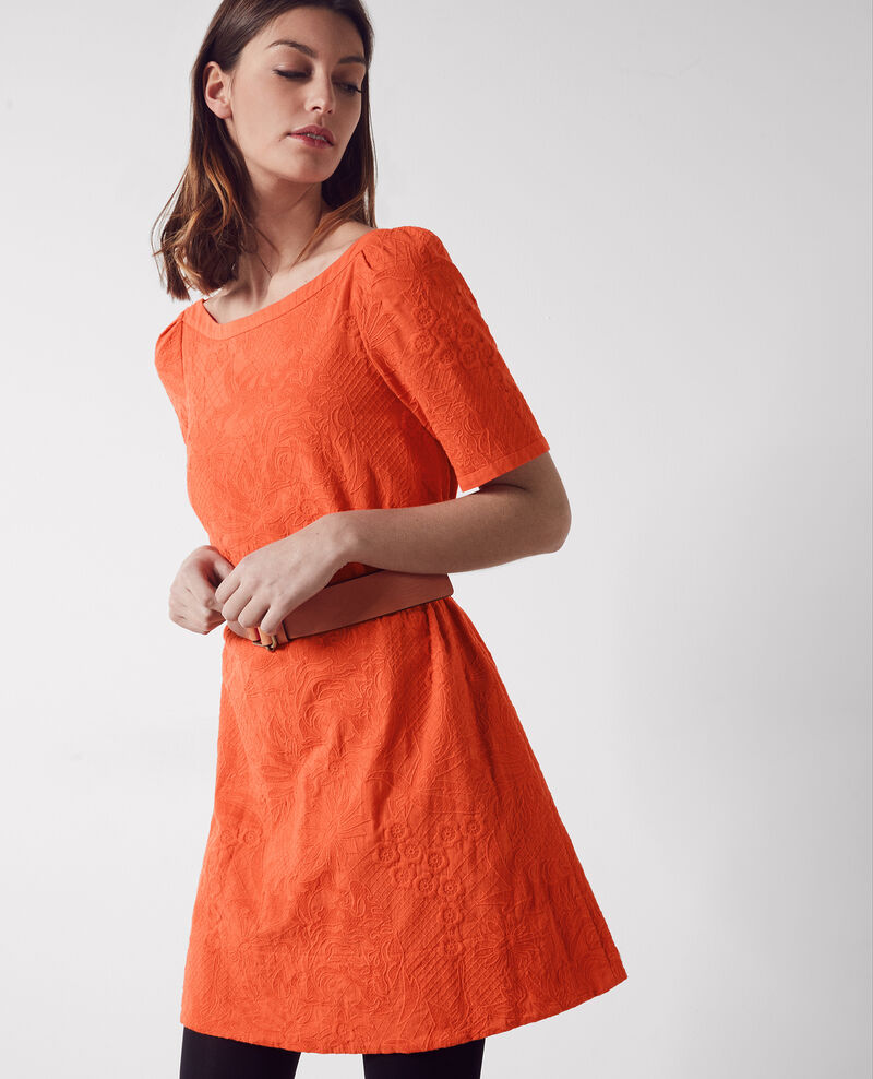 Fully embroidered dress Tomette Campanule