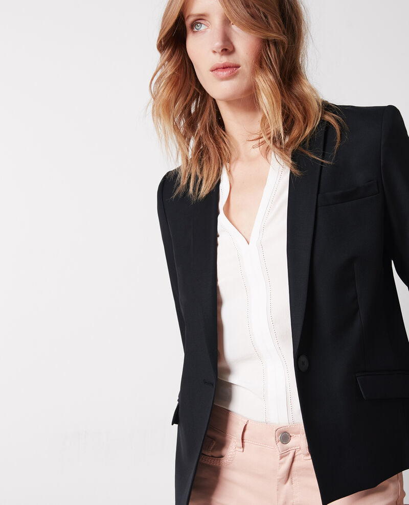 Wool office blazer Noir Celi