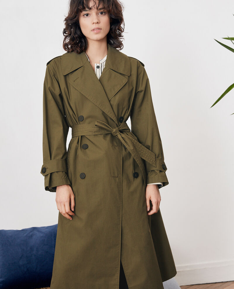 Light trench coat Dark kaki Fleur