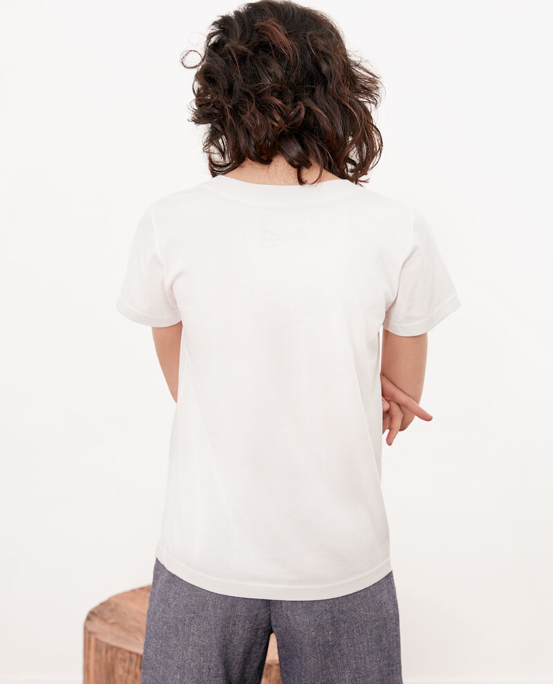 Léon T-shirt Off white Fimbre