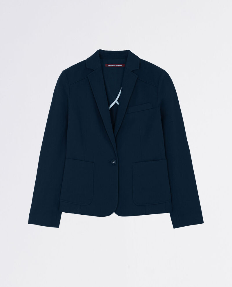 Cotton blazer Midnight blue Chatillon