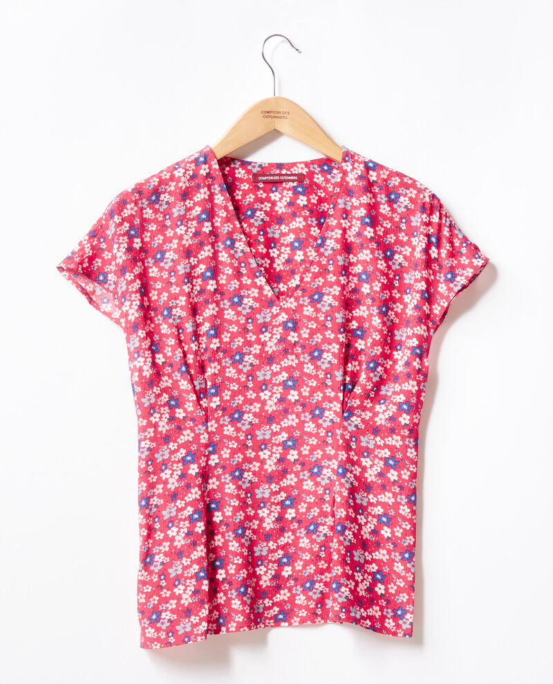 Printed blouse Honolulu ultra pink Fily