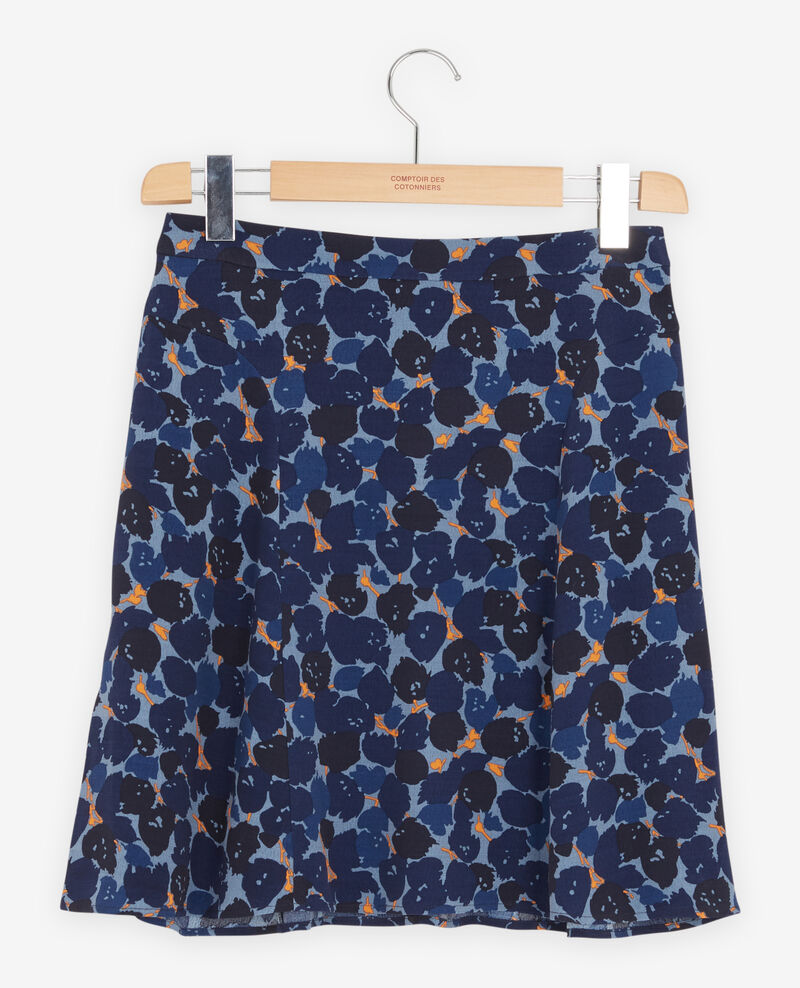 Printed skirt Blossom shadow indigo Finet