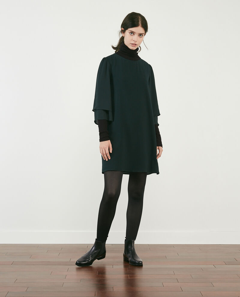 Dress with wide sleeves Deep green Dolita