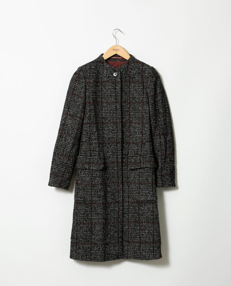 Straight fit coat NOIR