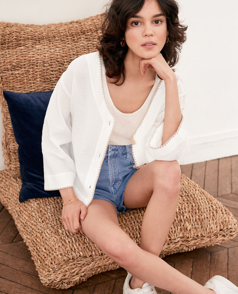 2-in-1: jacket or casual top KAOLIN