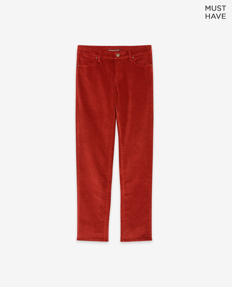 Stretch velvet cigarette pants Devil Decharpe