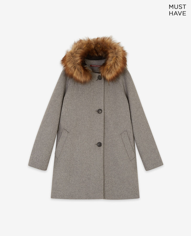 Wool coat Medium heather grey Dalexo