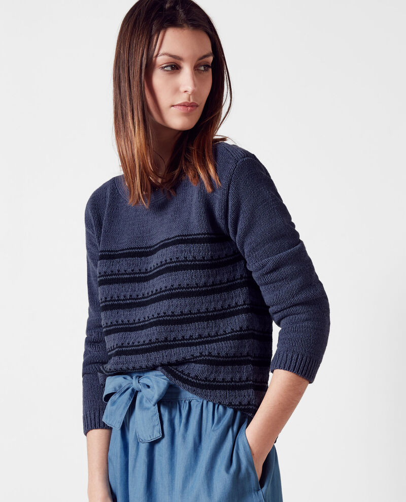 Breton-style striped jumper Ink blue/midnight Cosette