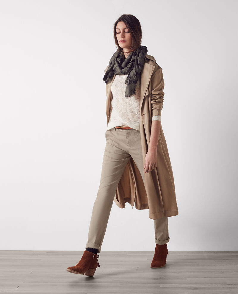 Chinos with cargo topstitching Dune Catherine