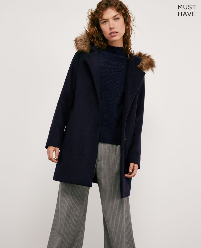 Wool coat NAVY