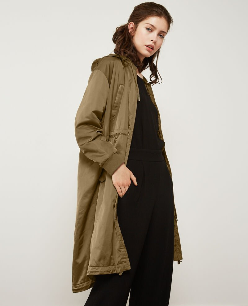 Parka with removable hood LIGHT KAKI