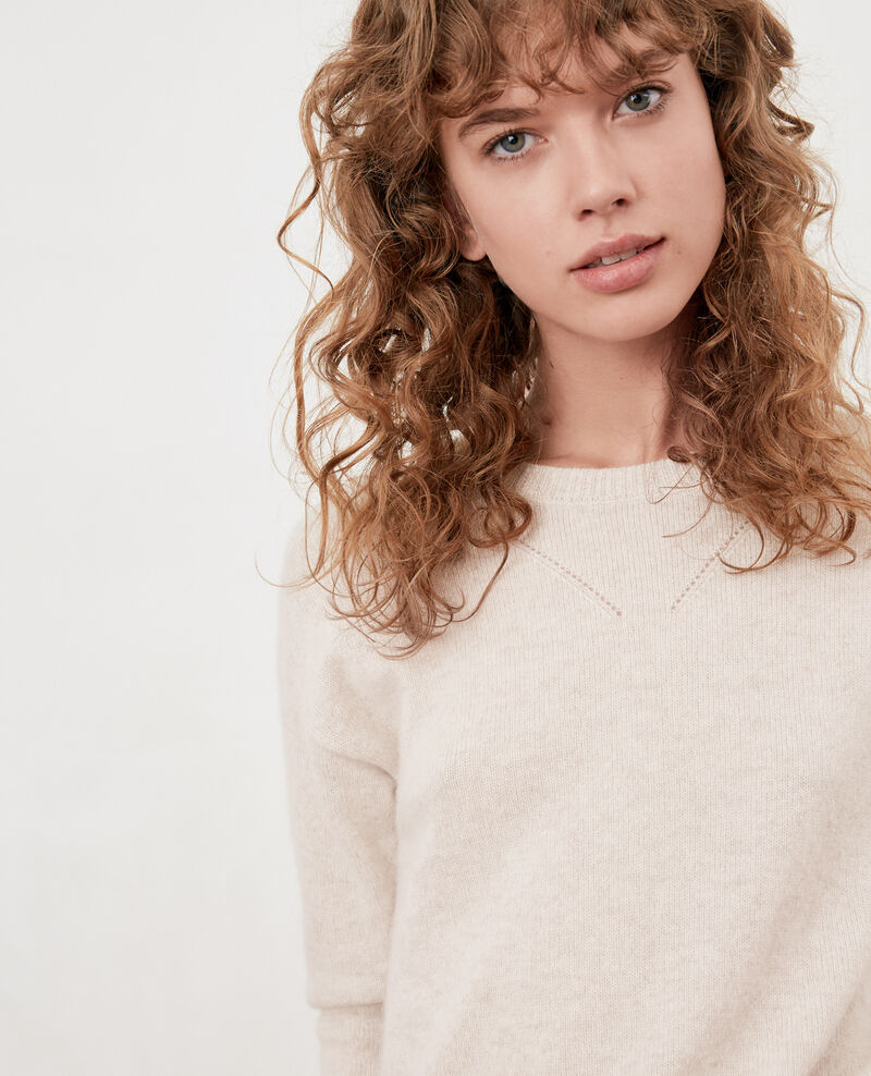 Cashmere jumper Heather chalk Falkner