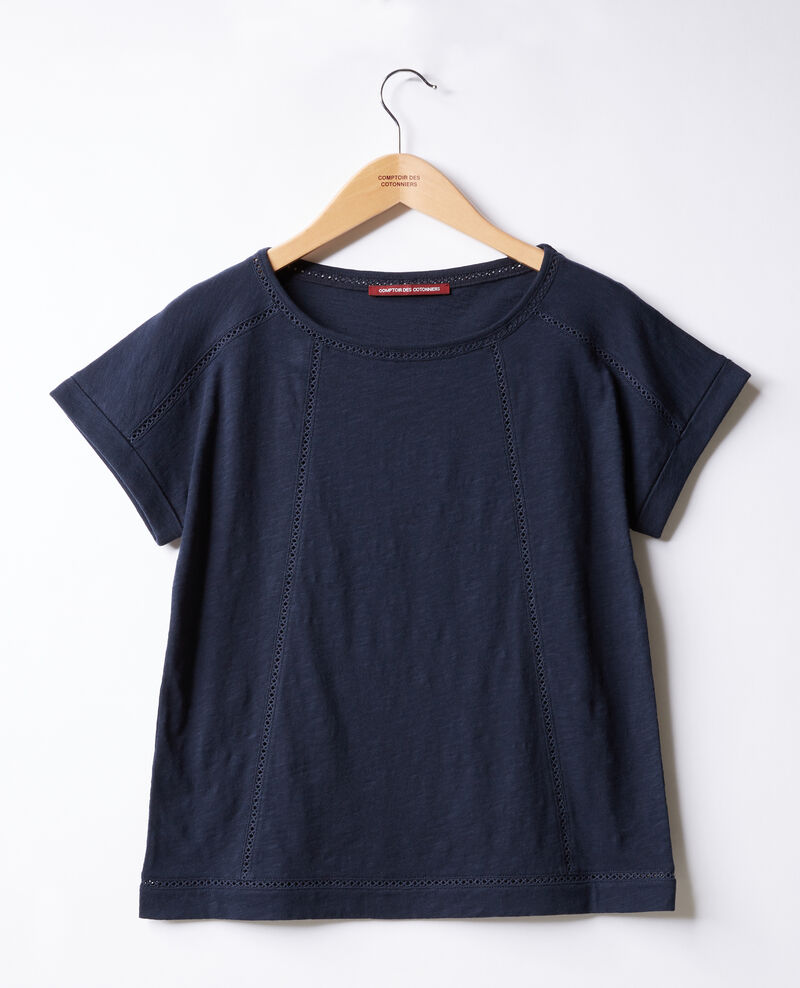 T-shirt with braid Navy Fenouil