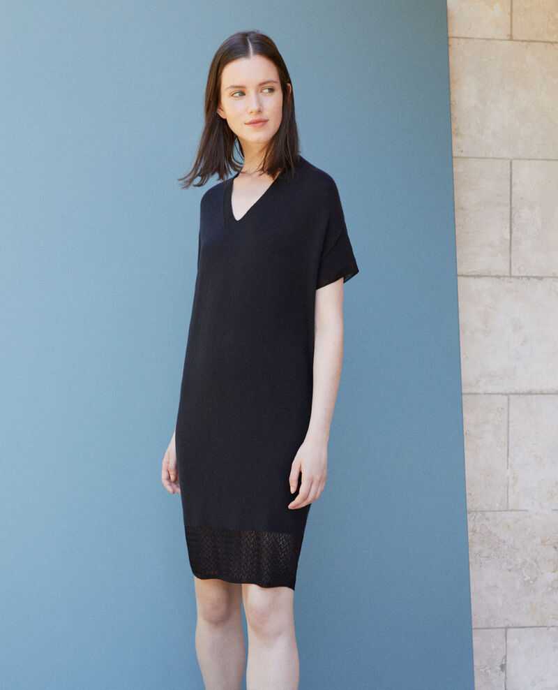 Zero-stitching knitted dress NOIR