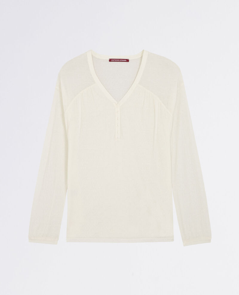 Blouse-style T-shirt Blanc Cocoon