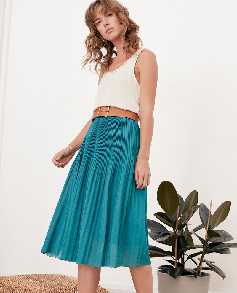 Pleated skirt Pacific green Florie