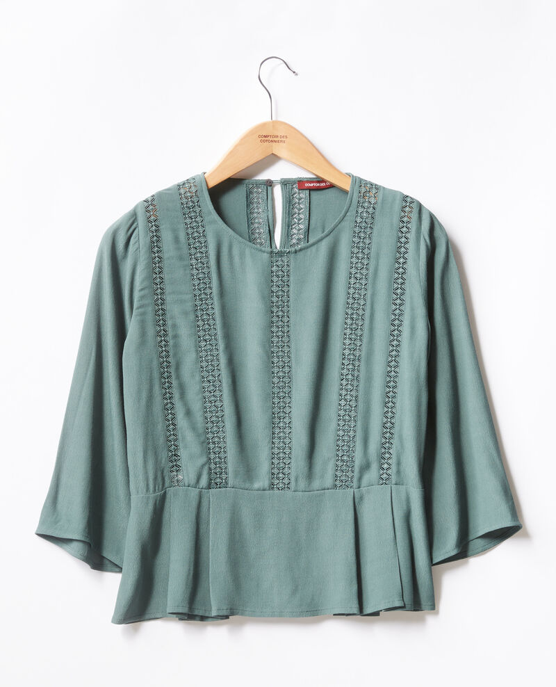 Peplum blouse with lace Peppermint Fabouret