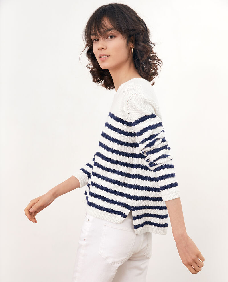 Breton striped jumper OFF WHITE/MARINE