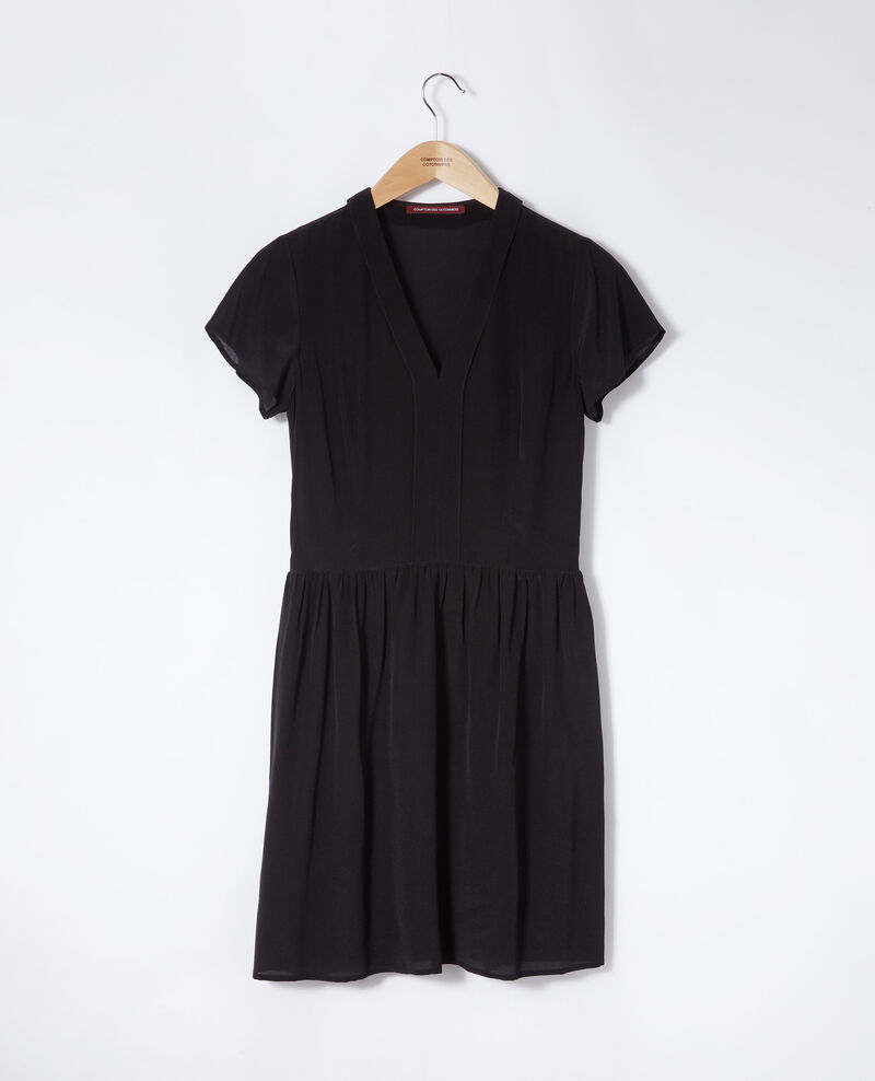 V neck dress Noir Ganael