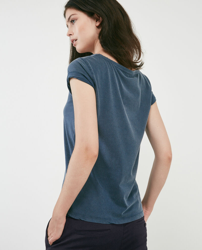 T-shirt with Léon print Ocean wash Daloupe