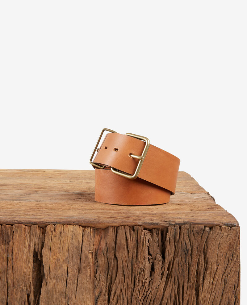 Leather belt Cognac Faban