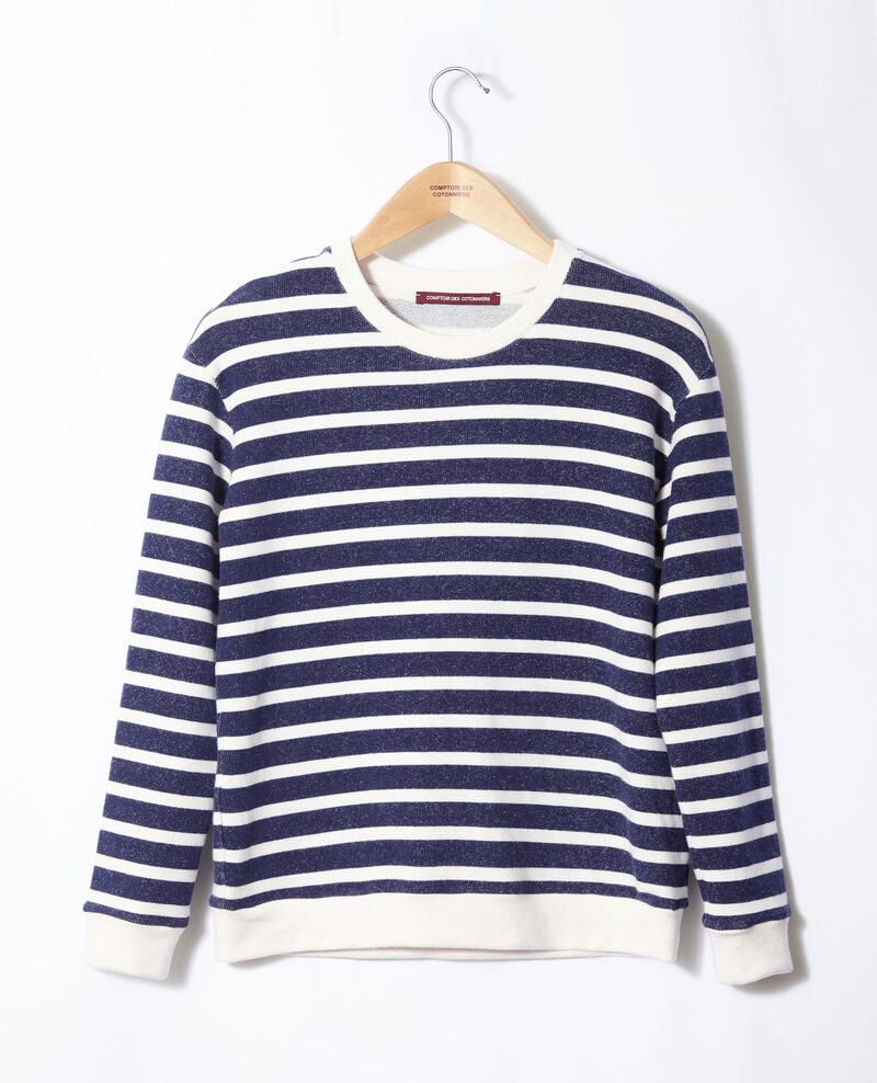 Striped sweatshirt Off white/peacoat Gikrame