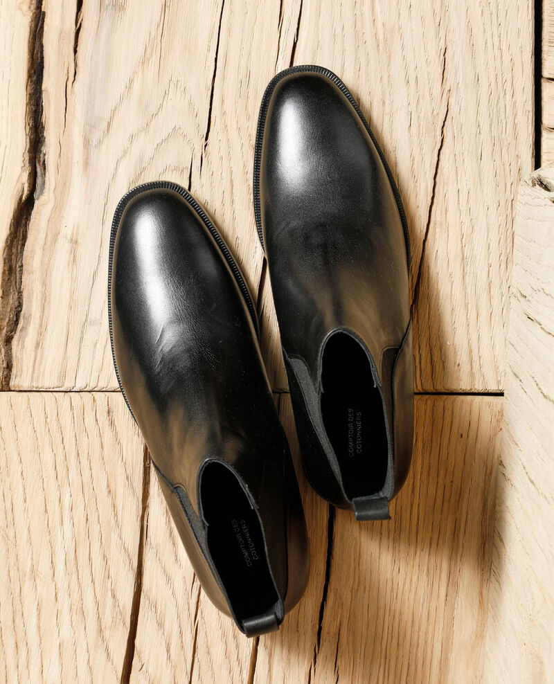 Smooth leather ankle boots Noir Gomme