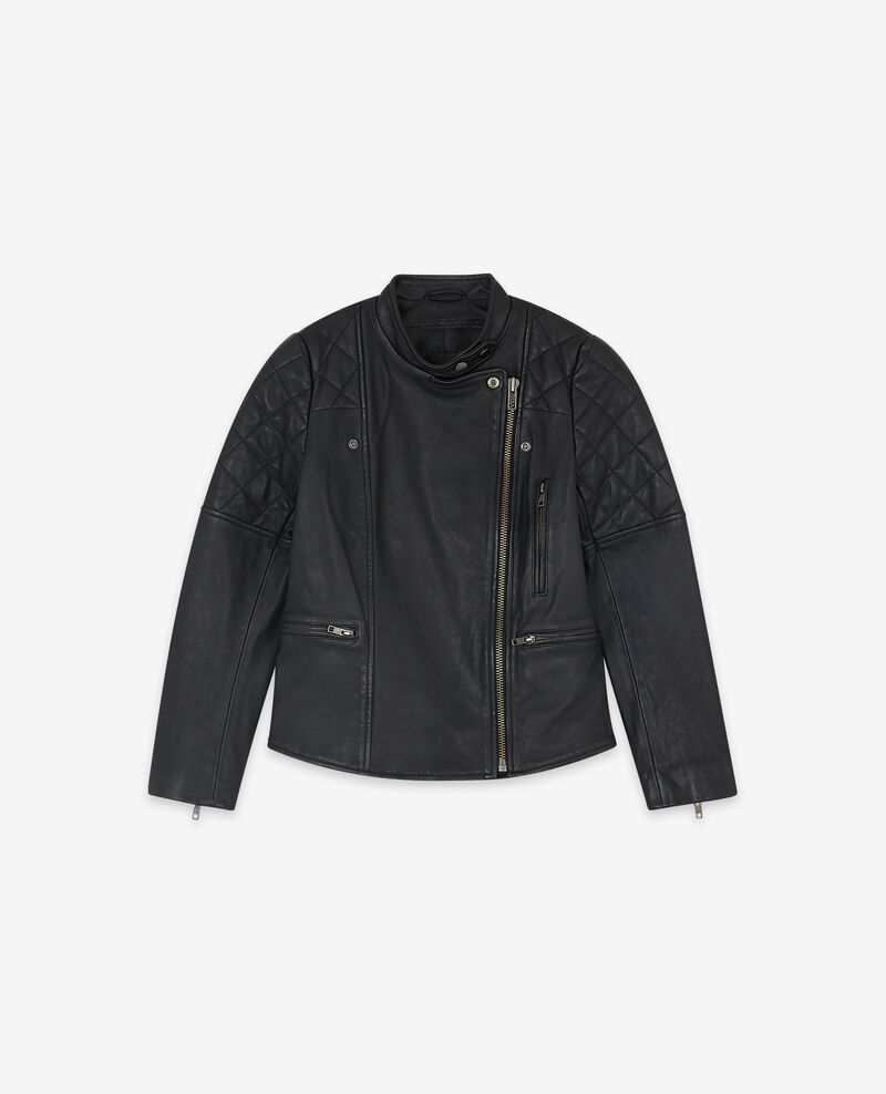 Leather jacket Noir Dablique