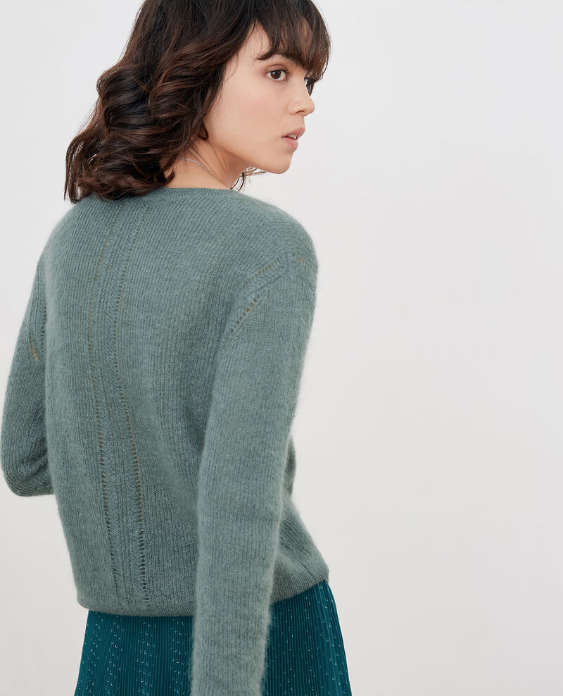 Jumper with mohair Dark celadon Feever