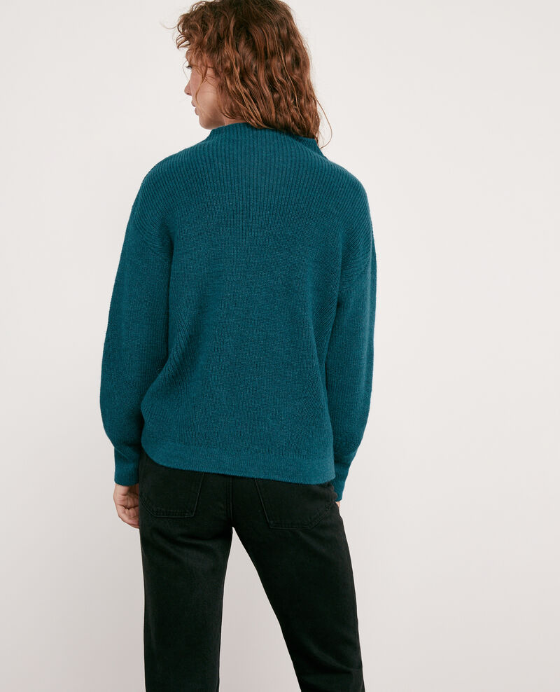 Woll and alpaca jumper Deep sea Damelila
