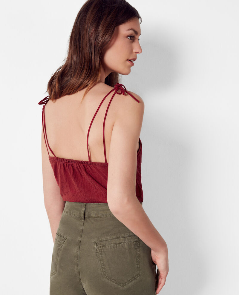 Top with tie straps Raspberry Cubalibre