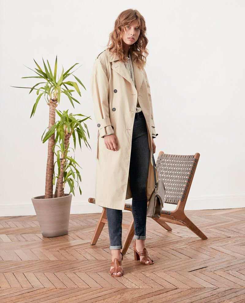 Loose fit Trench coat Tan Fleur