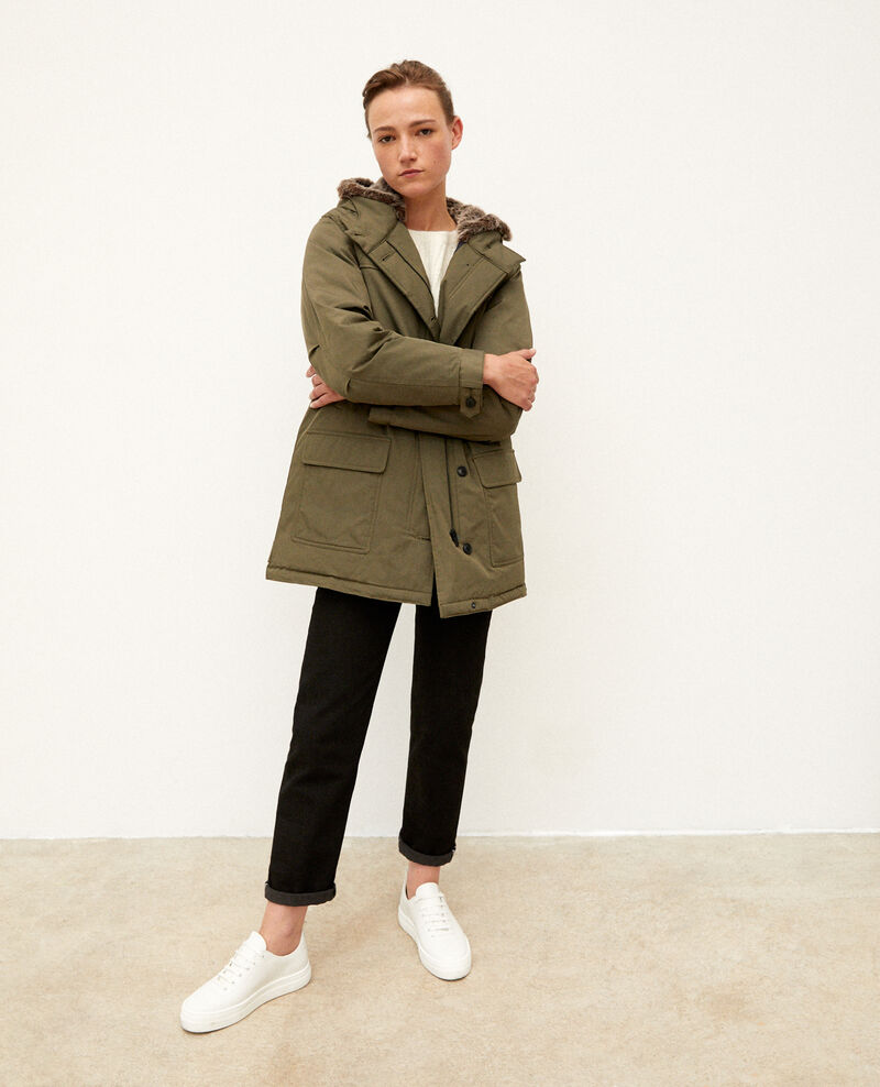 Hooded parka OLIVE NIGHT
