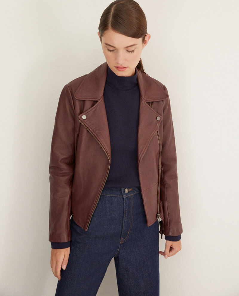 Timeless leather jacket  Decadente chocolate Galaxie