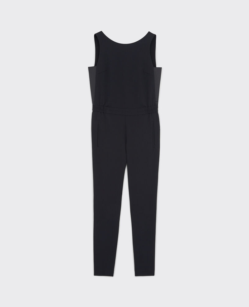 Jumpsuit in crepe with satin details Noir Cassette