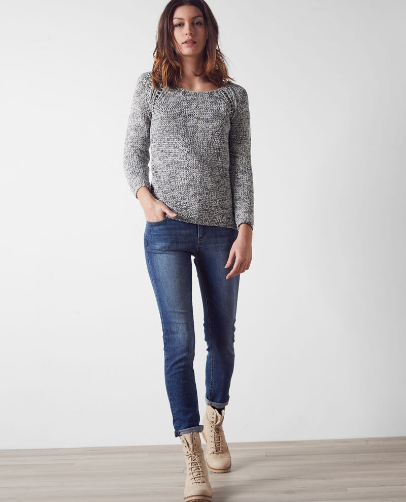 Marl knit jumper Ink blue Catwoman